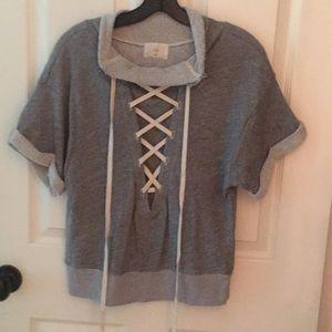 Anthropologie short sleeve sweatshirt